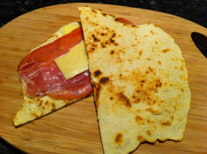 ham and cheese Flatbread