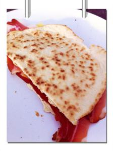 piadina with speck