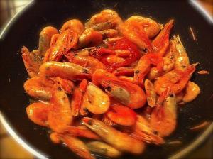 jumbo prawns cooked