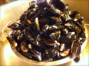 mussels ready to cook