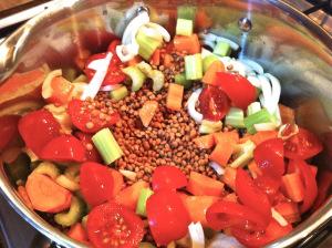 Preparation of lentils