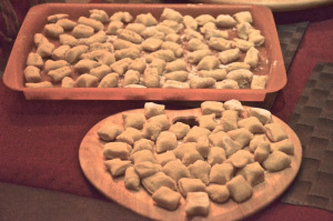 Homemade gnocchi as main course