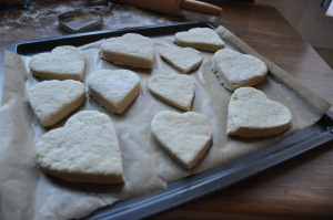 preparation of scones © alesimplerecipes