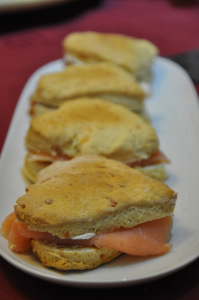 scones with salmon and cheese © alesimplerecipes