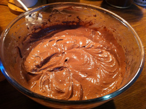 mixture of chocolate cake © alesimplerecipes