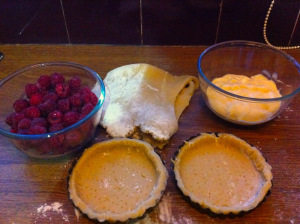 preparation of mini Raspberries Tarts