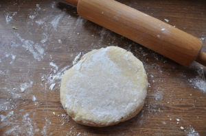 Sweet dough for chiacchiere di carnevale is ready