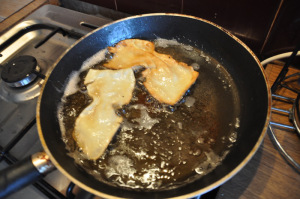make bow ties and fry chiacchiere di carnevale