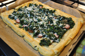 stuffed pastry with spinaches-cheese- sausages © alesimplerecipes