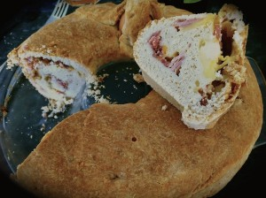Inside of a Tortano bread