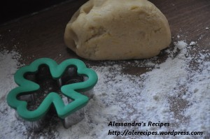 shortcrust pastry for clover shaped cookies