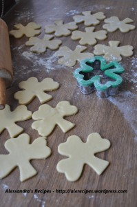 biscuit cutter used for baking clover shaped cookies