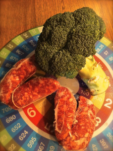 italian frozen sausages and broccoli
