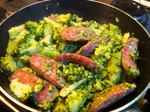 blend together italian sausages and broccoli