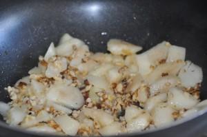 Add walnuts to the pan