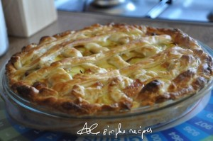 Artichokes, Leek, and Pecorino cheese Quiche