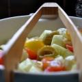 cucumber salad with mini mozzarella balls