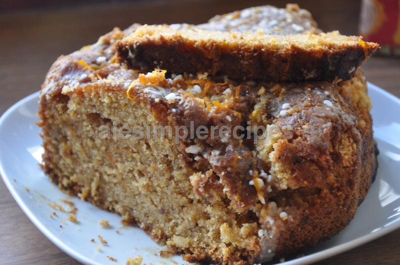 Sliced carrot cake recipe