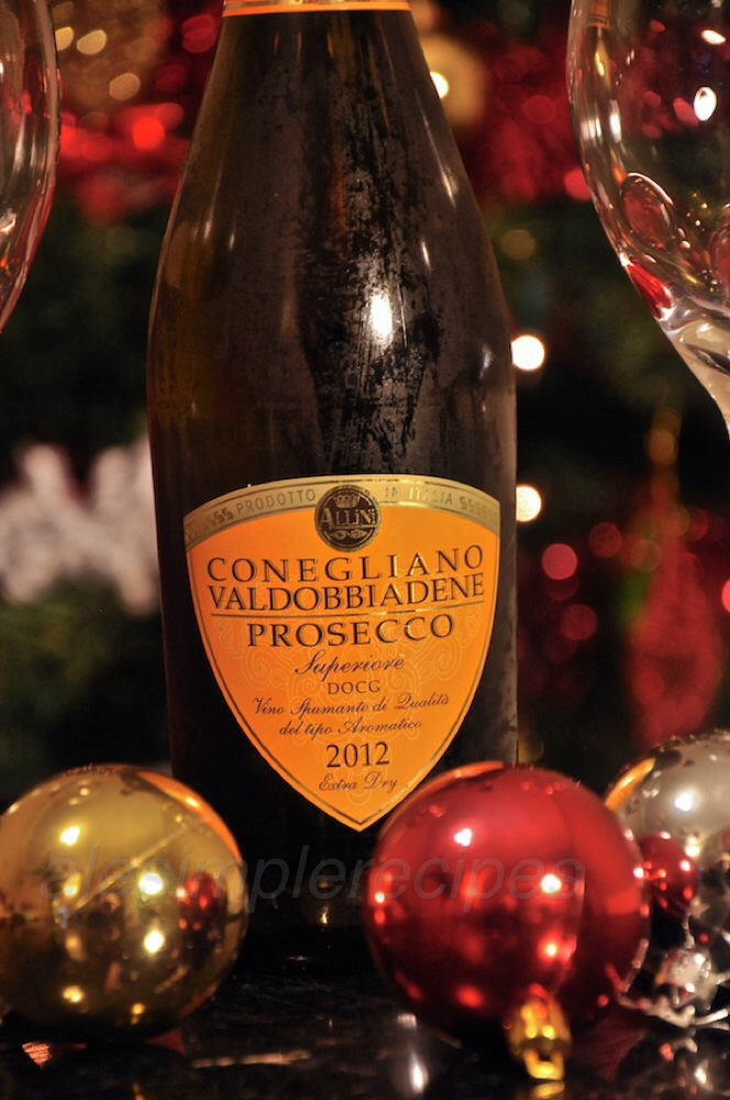 Italian Prosecco at New Years' eve