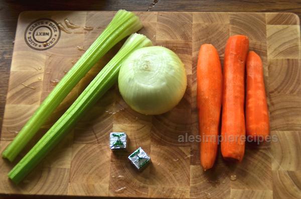 Vegetables and veg stocks for ragu