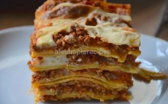 Serve the lasagne warm