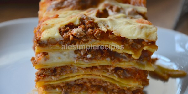 Serve the lasagne warm