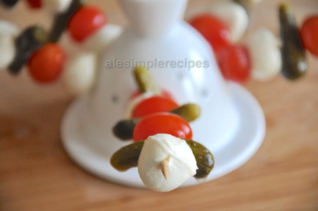 cherry mozzarella on display